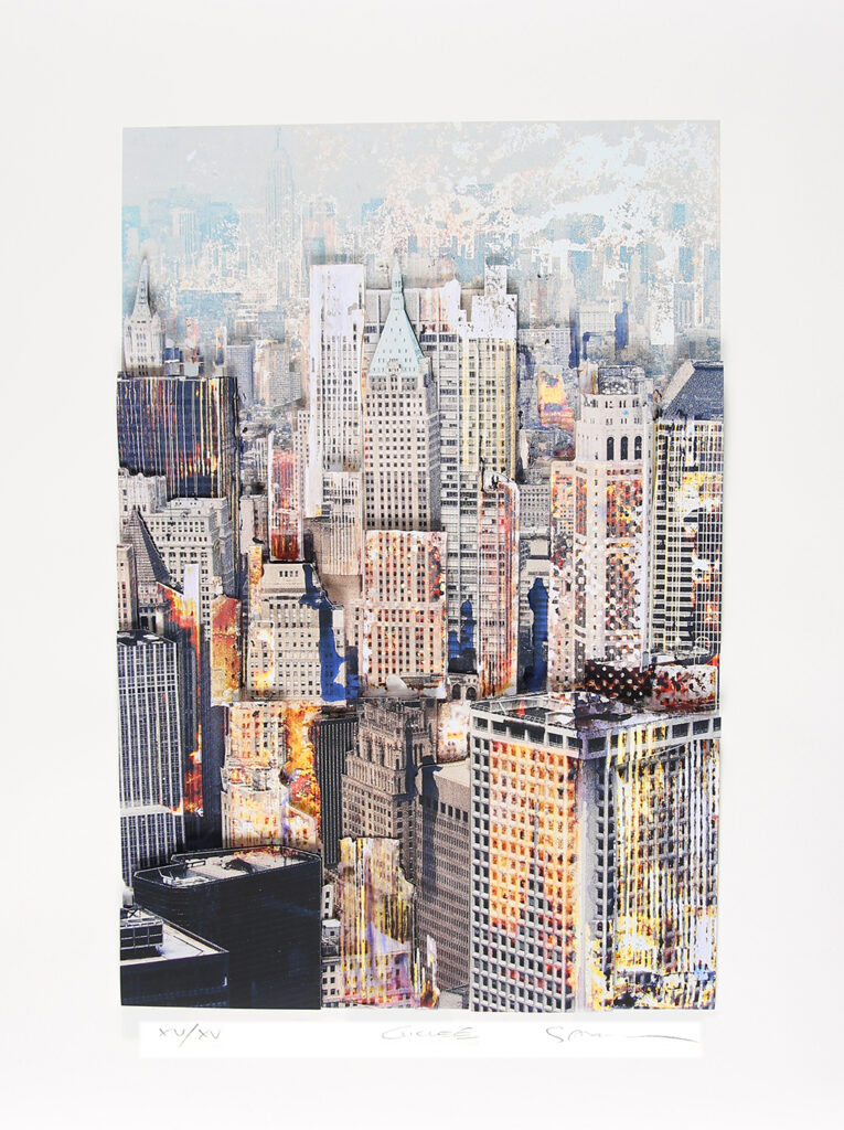 Gottfried Salzmann: New York, 3D-Konstruktion, 62 x 41,3 cm, 1.500 Eur