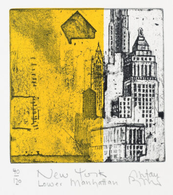 Stefan Becker: New York Lower Manhattan, Radierung, 19 x 26 cm, 85 Eur