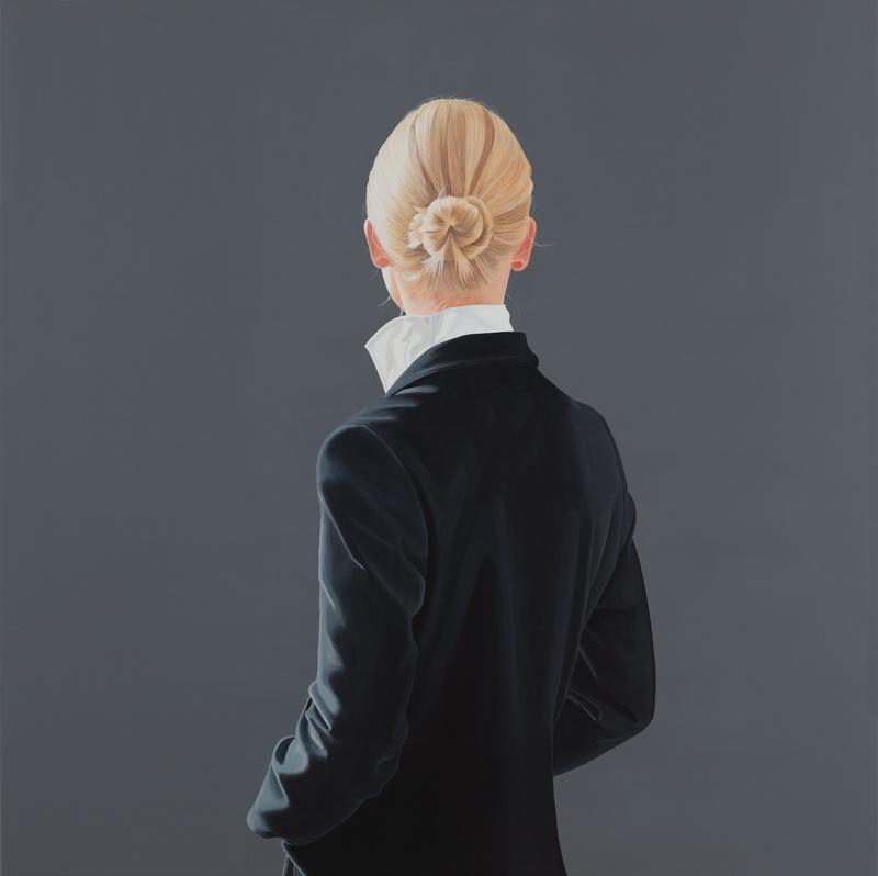 Sabine Liebchen: o. T., Unikat, Acryl auf Leinw, auf Keilrahmen gespannt, Format 120 x 120 cm, 7.000 Eur
