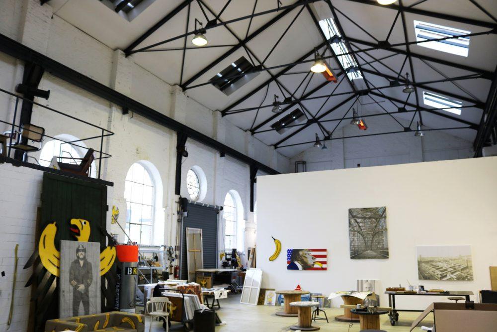Im Atelier von Thomas Baumgärtel ©Nicole Meyer
