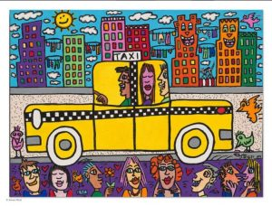 James Rizzi: Been there, done that, now..., 3D-Grafik, 30 x 24 cm, 705 Eur