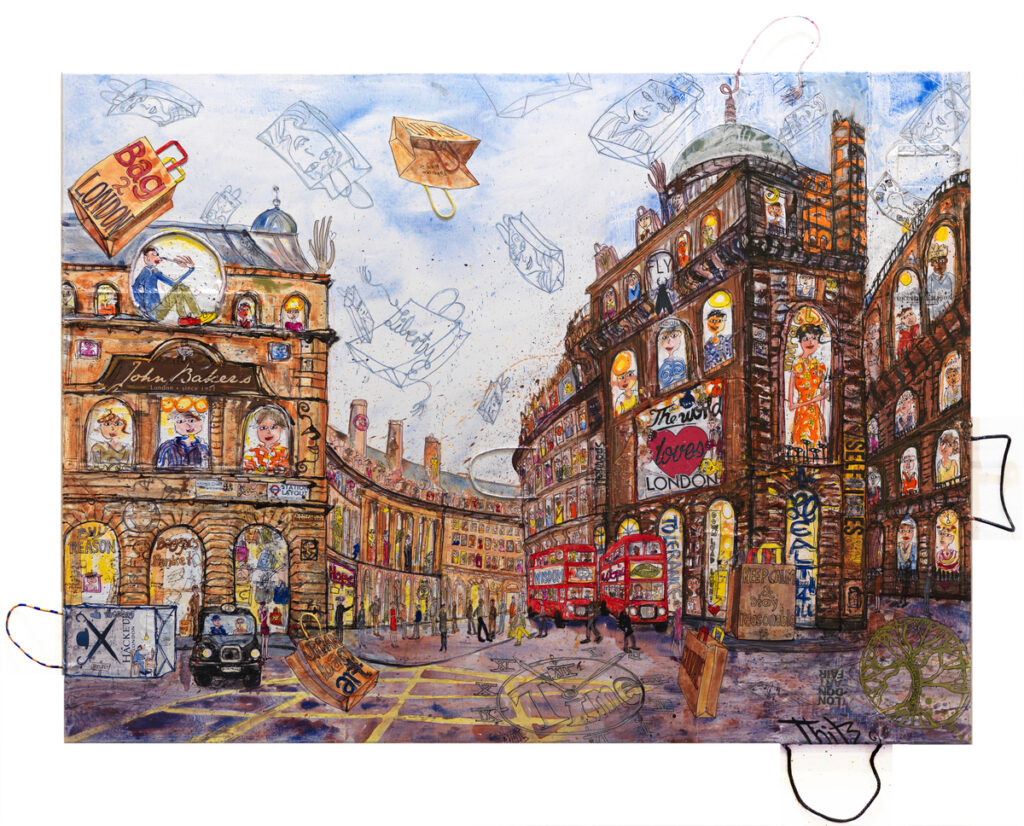 Thitz: London, Urban Bag Art , 160 x 120 cm, 14.000 Eur