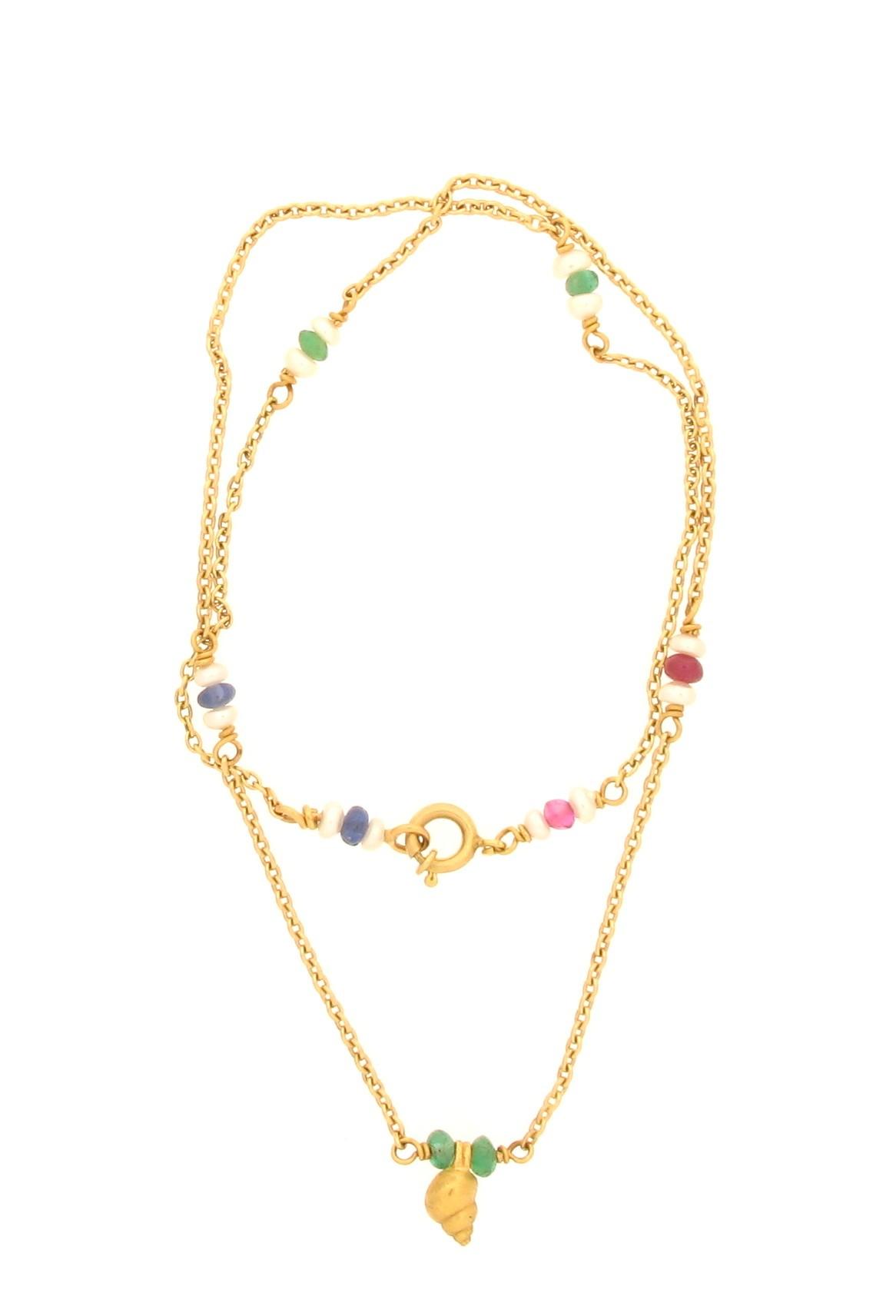 Kinderkette Schnecke 18ct Gold - GalerieVoigt - 234