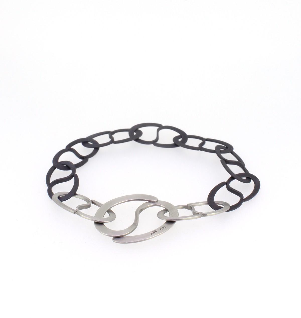 Armband Ösen Stahl schwarz - Oliver Schmidt - 710