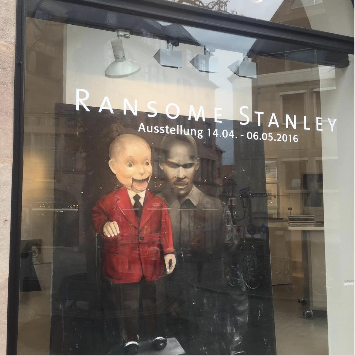 Schaufenster Ausstellung Ransome Stanley ©Galerie Voigt