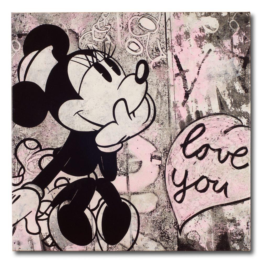 Karsten Rische: Love you, Unikat, Acryl auf Leinwand, Format 100 x 100 cm, auf Keilrahmen gespannt, handsigniert, 2.150 Eur