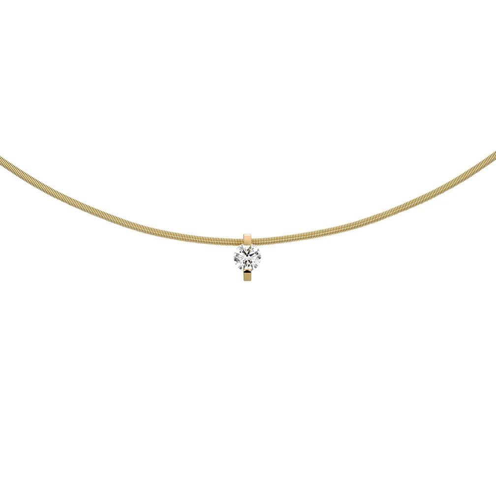 Anhänger Princess Brillant 18ct Gelbgold - Niessing - N363960gg