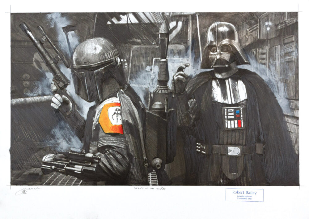 Robert Bailey: Heroes of the empire, Unikat, Bleistiftzeichnung, 75 x 56 cm, 2.940 Eur
