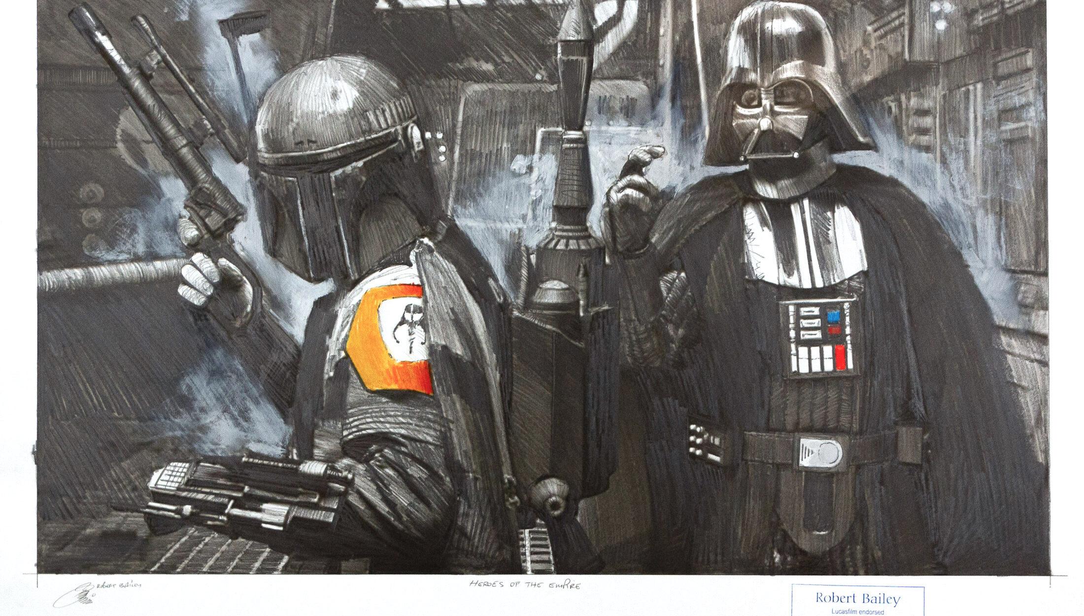 Robert Bailey: Heroes of the empire, Unikat, Bleistiftzeichnung, 75 x 56 cm, 2.940 Eur