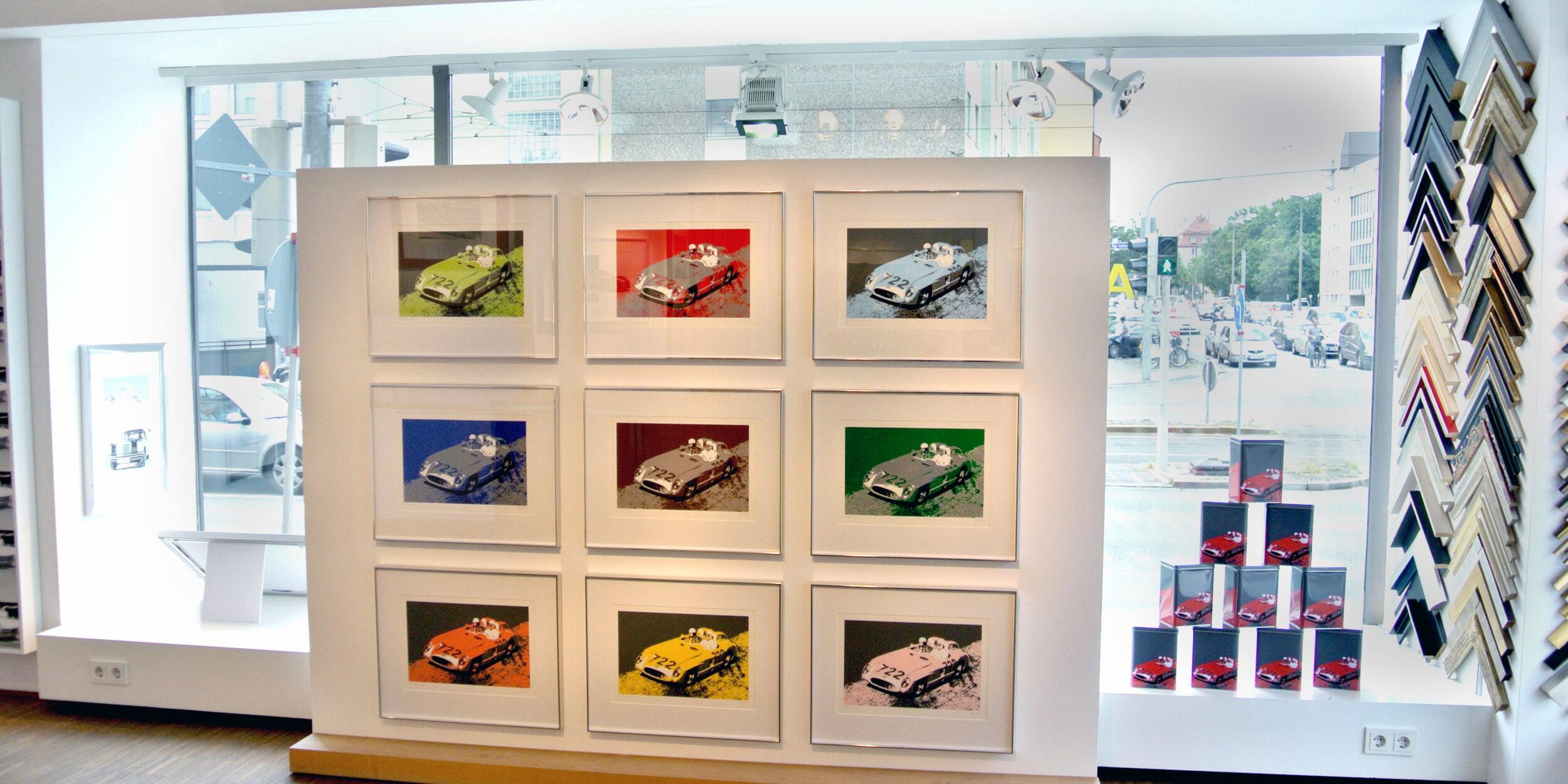 Serigrafien von Wolf Gast, Ausstellungsansicht, 2015 ©Galerie Voigt