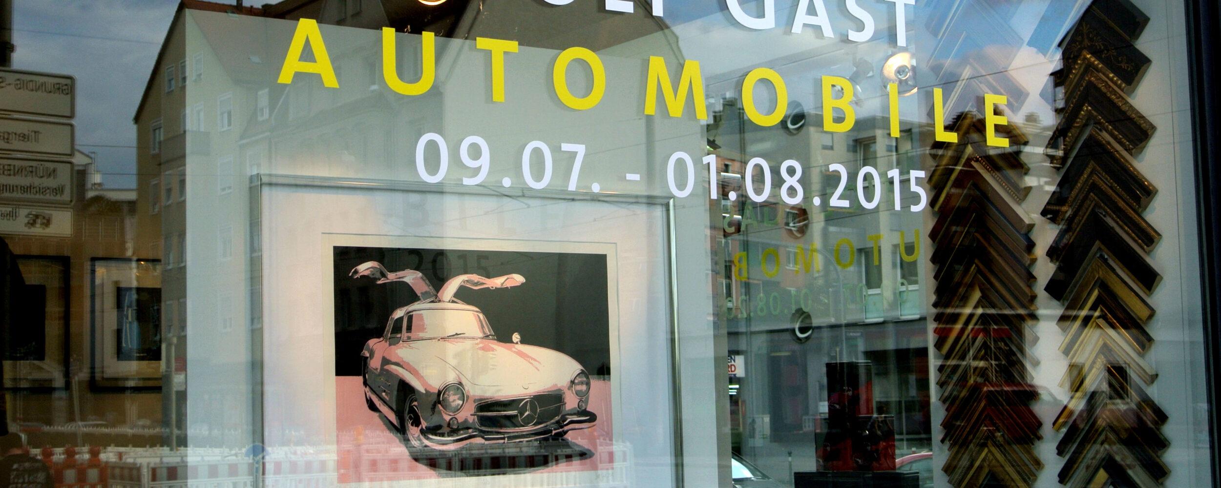 Ausstellung Wolf Gast: Automobile ©Galerie Voigt