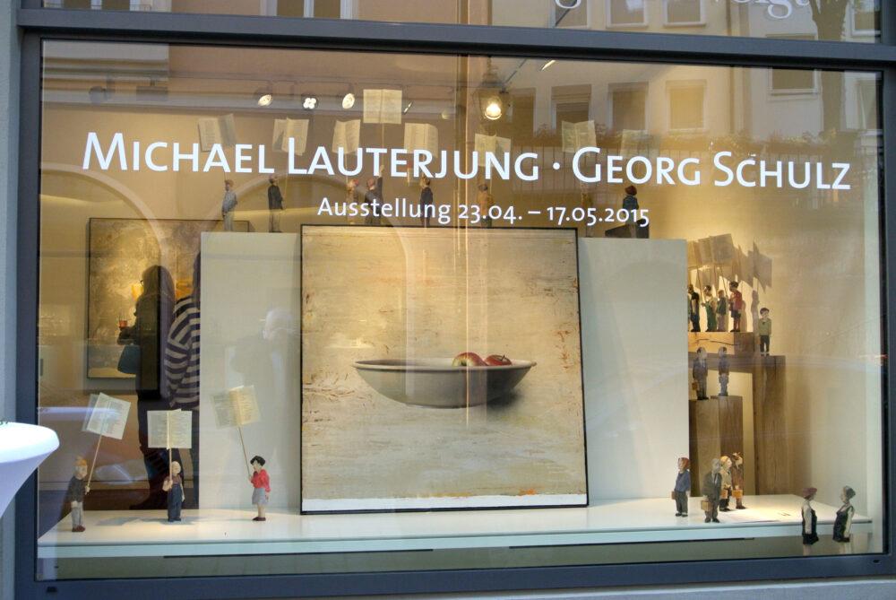Schaufenster Ausstellung Michael Lauterjung - Georg Schulz ©Galerie Voigt