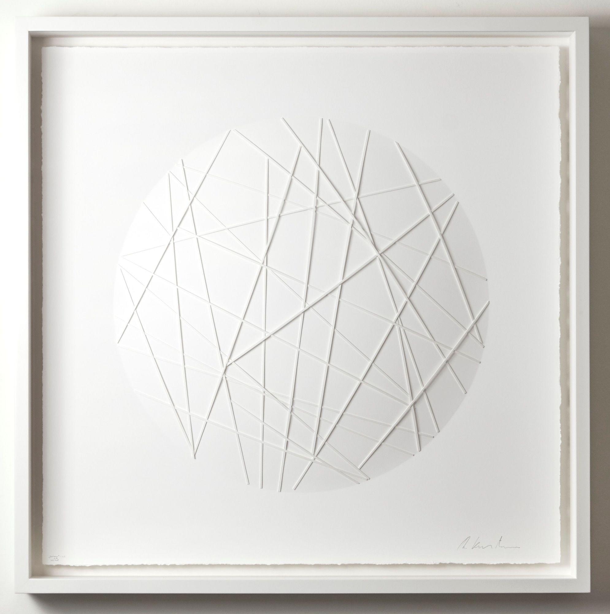 Ralph Kerstner: Sunny net, Prägegrafik, 100 x 100 cm, Unikat, 6.900 eur ©Ralph Kerstner