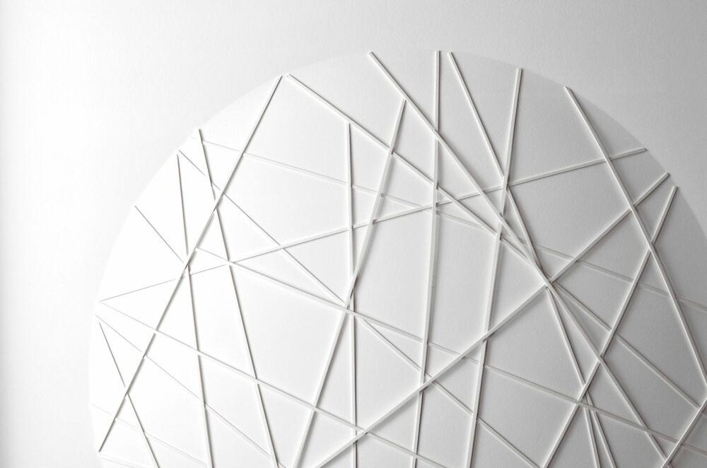 Ralph Kerstner: Sunny net, Prägegrafik, 100 x 100 cm, Unikat, 6.900 Eur (Detail)