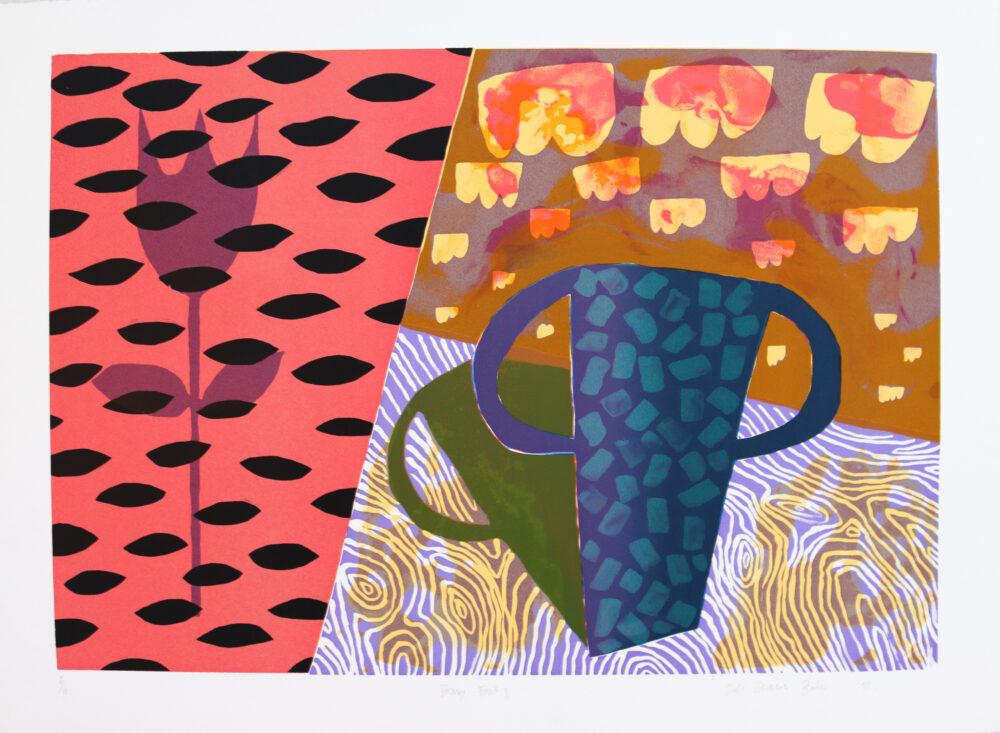 Barker, Dale: Strange Fruit II, Serigraphie, 5/10, Blattformat 56 x 77 cm, nummeriert und handsigniert, 290 €