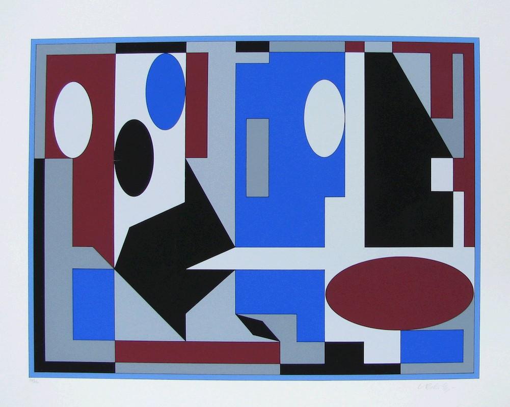 Vasarely, Victor, Kunst, Galerie Voigt, Nürnberg
