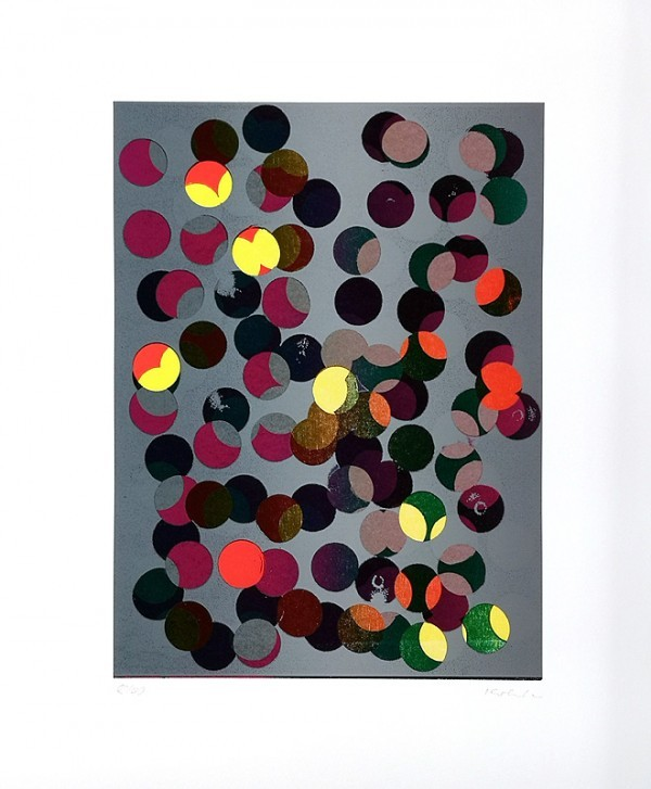 Jan Kolata: Große Punkte hell; Siebdruck, handsigniert, nummeriert 14/40 50 x 60 cm, 790 €