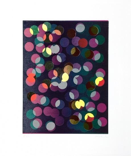 Jan Kolata: Große Punkte dunkel, Siebdruck, handsigniert, nummeriert 14/40 50 x 60 cm, 790 €
