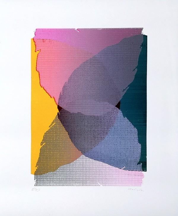 Jan Kolata: Scheiben gerissen, Siebdruck, handsigniert, nummeriert 14/40 50 x 60 cm, 790 €
