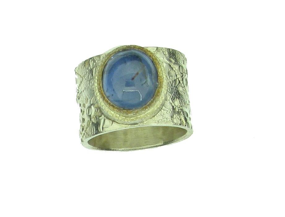 Ring Saphir 925 Silber - Autoren Schmuck - 05/83