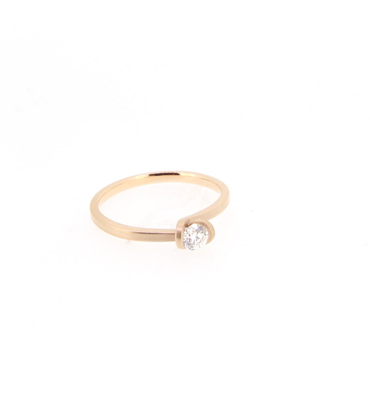 Ring Solitär Brillant 0,20ct - Oliver Schmidt - 101rose020