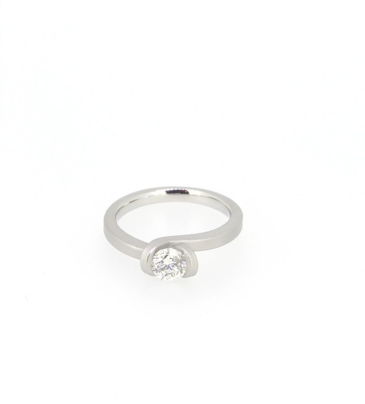 Ring Solitär 0,50ct 950 Platin - Oliver Schmidt - 103-050