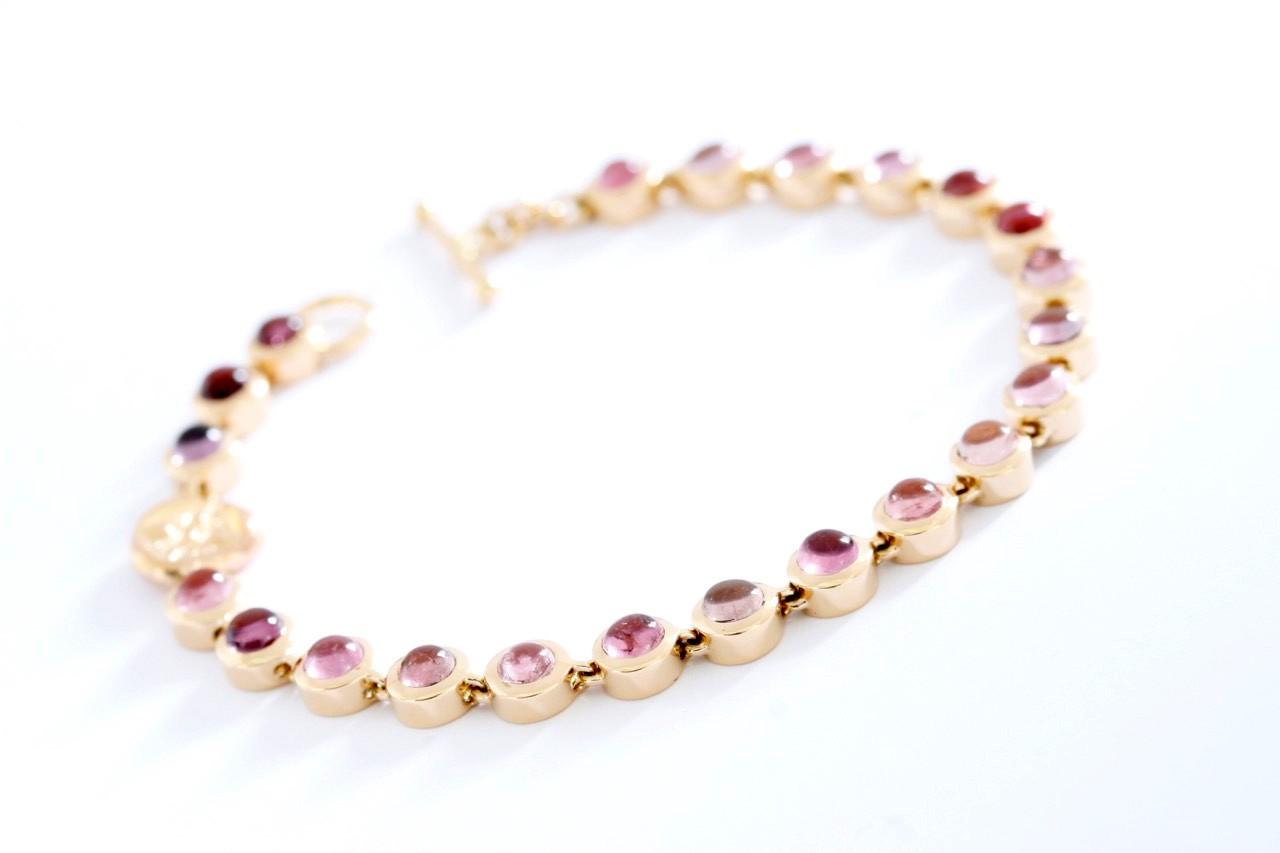 Armband Turmalin pink Roségold - TwentyTen - 10586