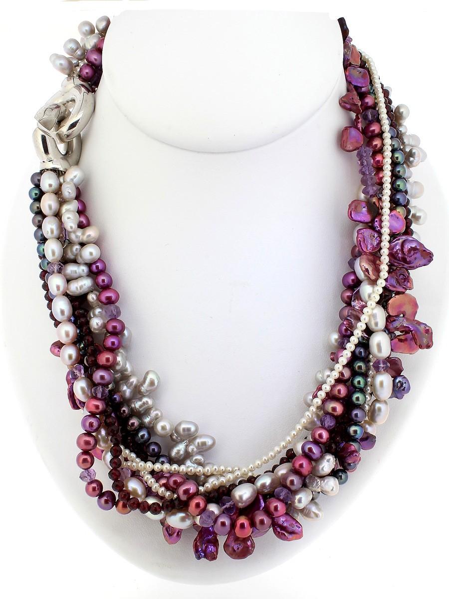 Collier Süßwasser Perlen - Individuelle Marken - 106sell08-5