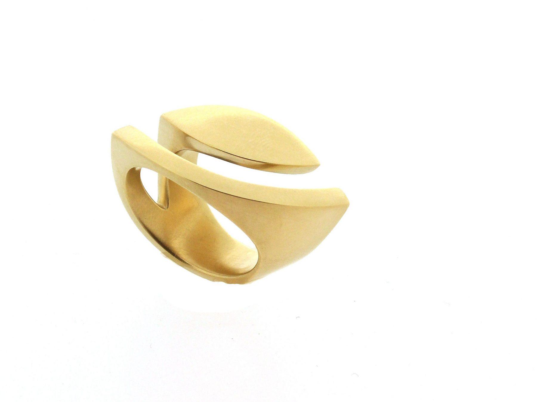 Ring Goldauge 18ct Gelbgold - Angela Hübel - 1085