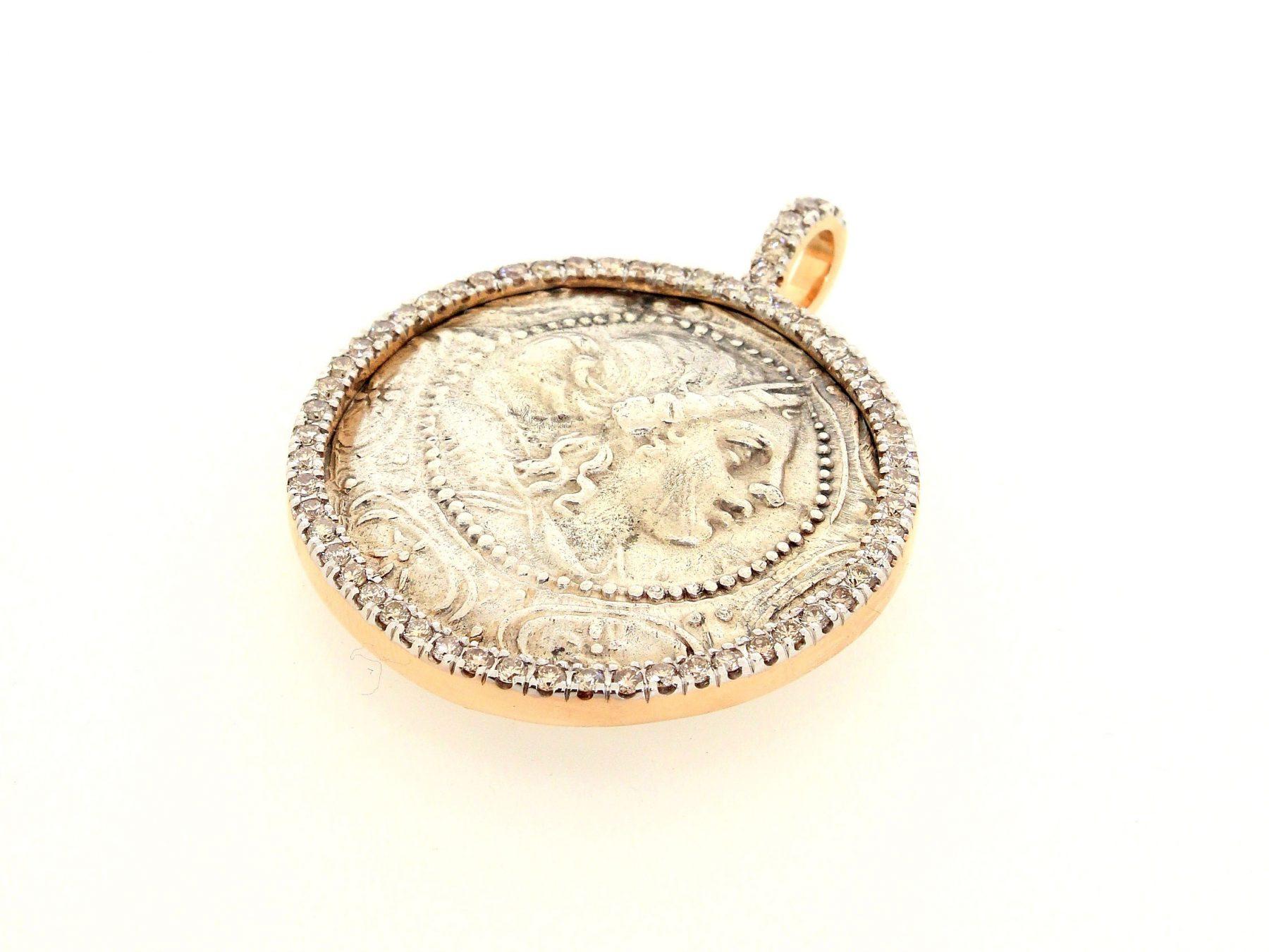 Anhänger Münze Artemis 18ct Roségold - TwentyTen - 10954