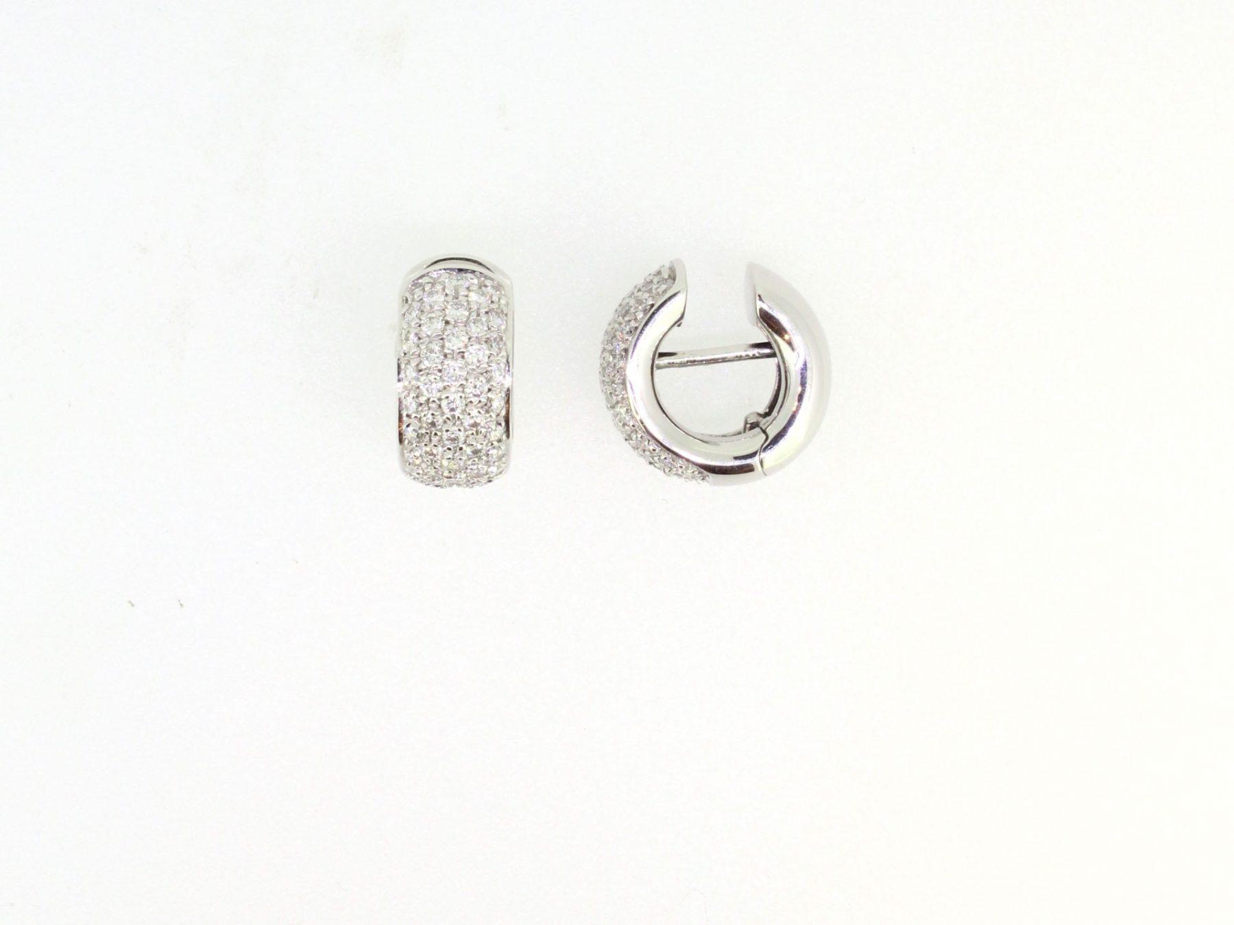 Creolen Diamant 18ct Weißgold - GalerieVoigt - 1407WG