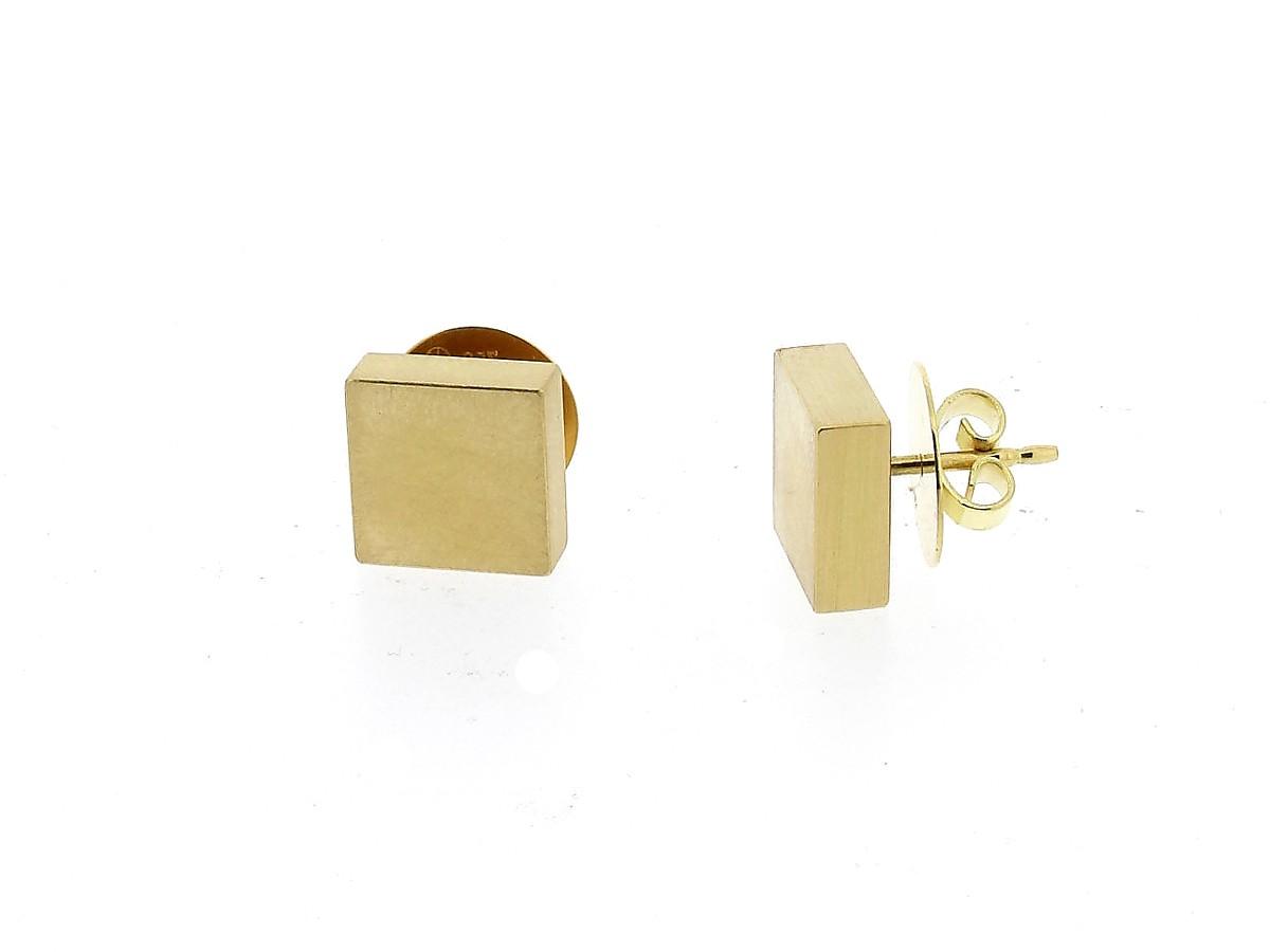Ohrstecker Quadrat Gold - Köppel, Christine - 20005GG