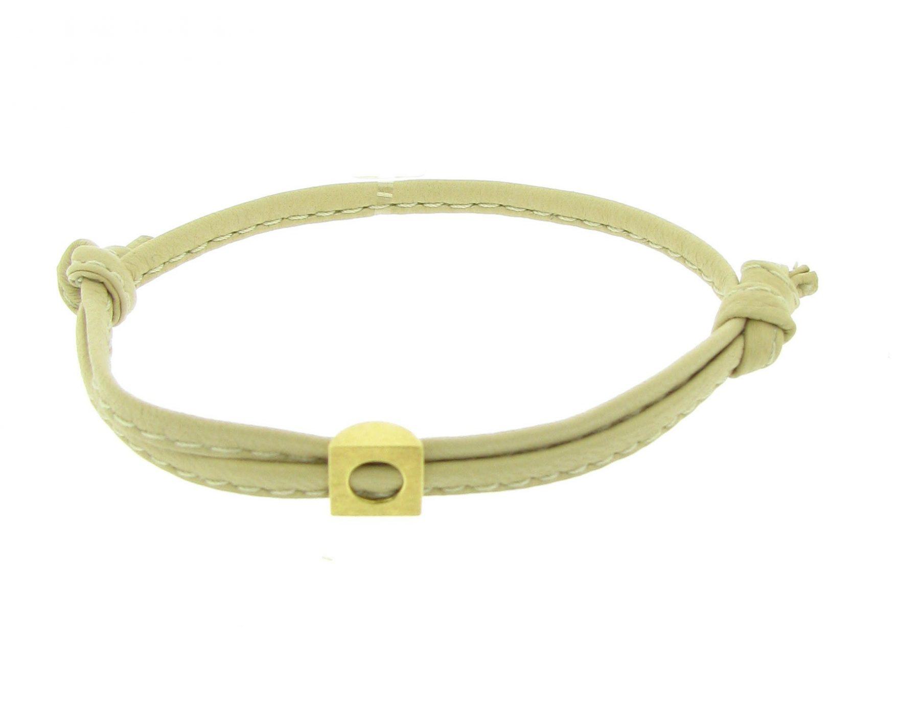 Armband Leder 18ct Gelbgold - Individuelle Marken - 2001-760
