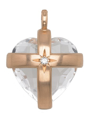 Anhänger Bergkristall Gold - Corinna Heller - 207hell11-10