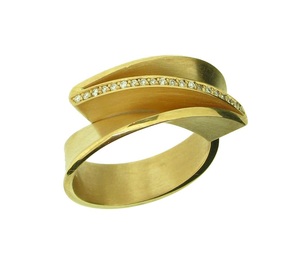 Ring Leporello 18ct Gelbgold - Autoren Schmuck - 30398-1
