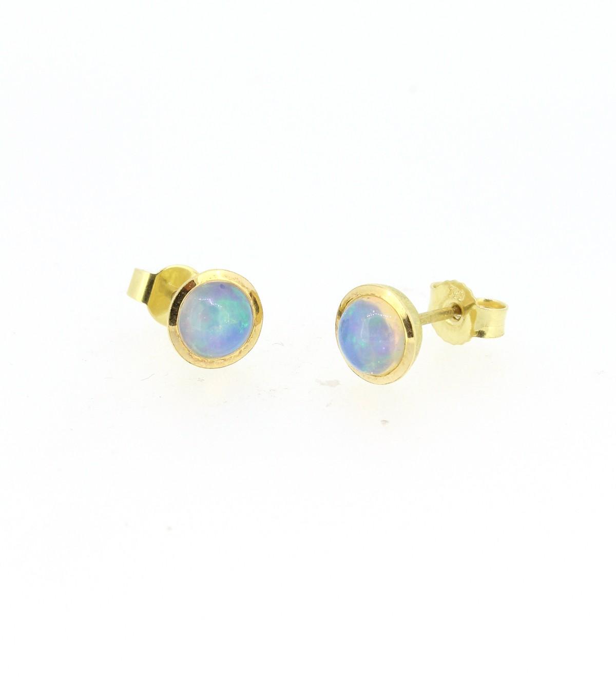 Ohrstecker Opal 18ct Gold - Individuelle Marken - 320brun10-6