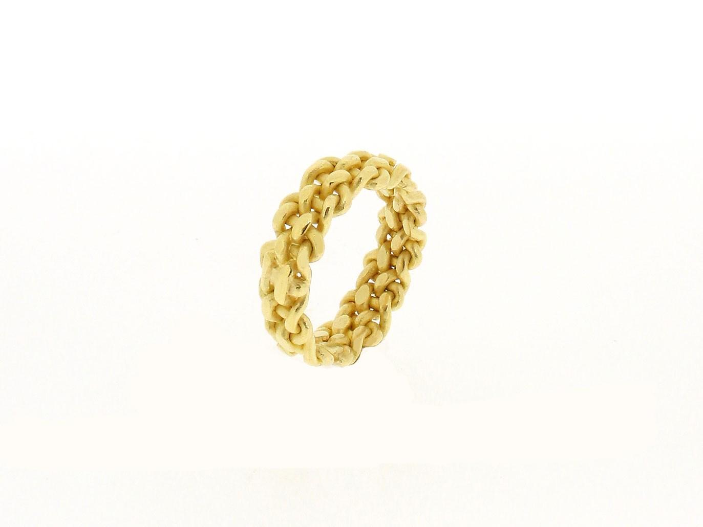 Ring geflochten 18ct Gelbgold - Autoren Schmuck - 4001-768