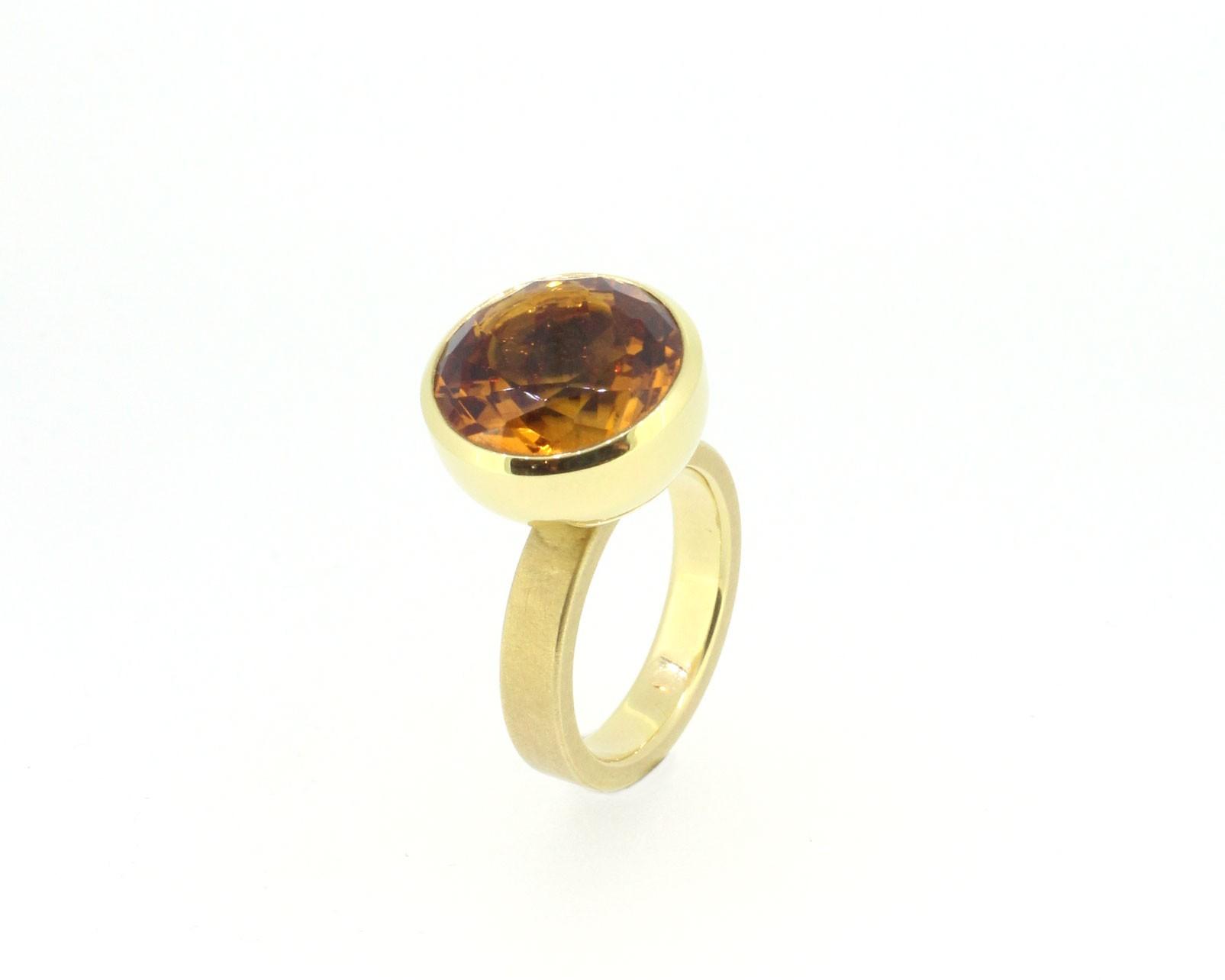 Ring Blub Citrin orange - Georg Spreng - 402spre10-6