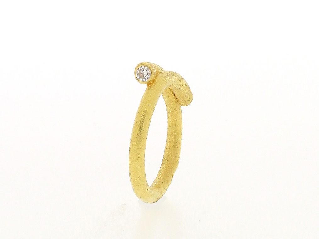 Ring Brillant 20ct Gelbgold - Autoren Schmuck - 4063-1498