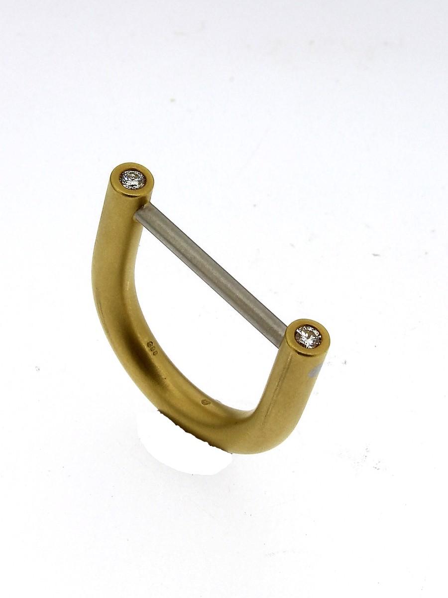 Ring Bügel 950 Platin - Autoren Schmuck - 4063-1583