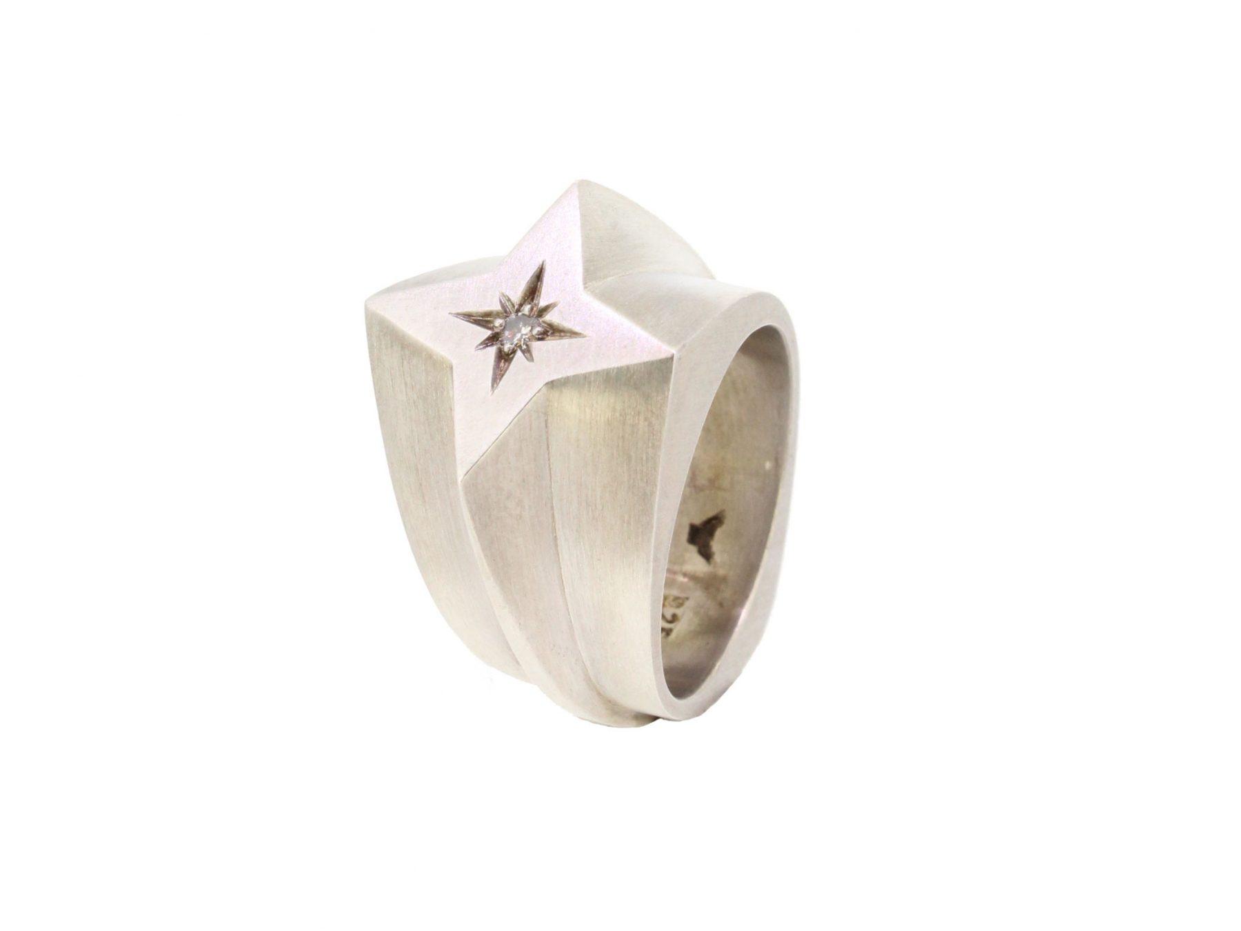 Ring Star Crosser 925 Silber - Corinna Heller - 407hell05-1