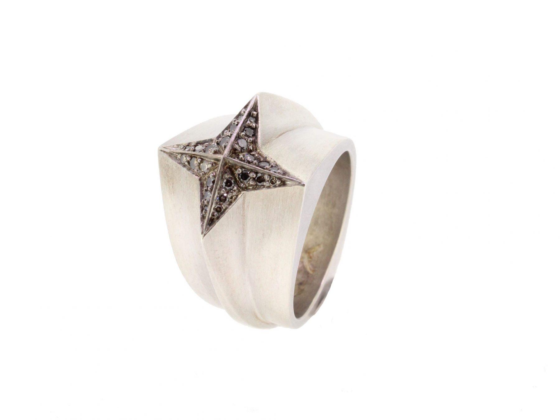 Ring Star Crosser 925 Silber - Corinna Heller - 407hell05-2