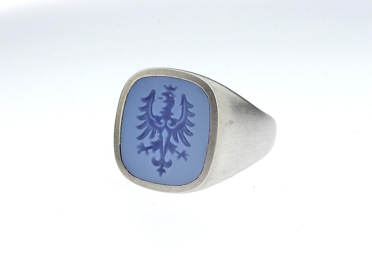 Siegelring Antik 925 Silber - Code Royal - 408coro09-9