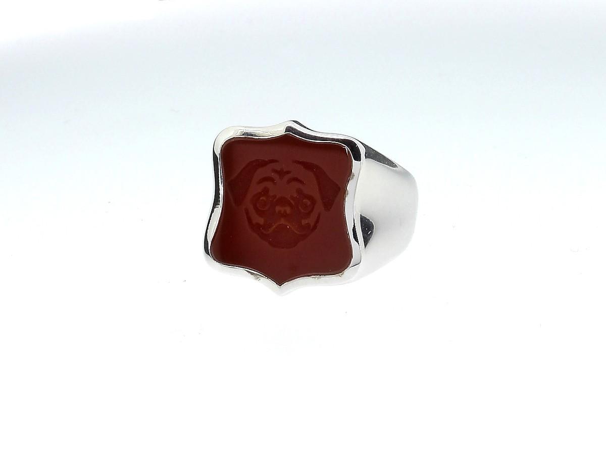 Siegelring Wappen 925 Silber - Code Royal - 409coro05-1