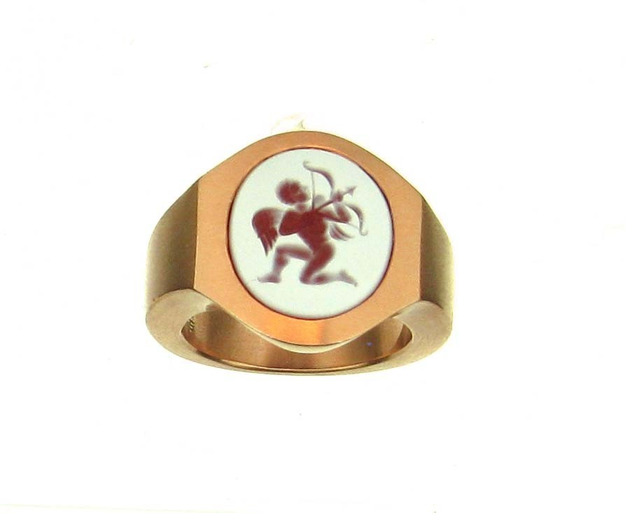 Siegelring Amor 18ct Roségold - Pe Giers - 412gier07-7