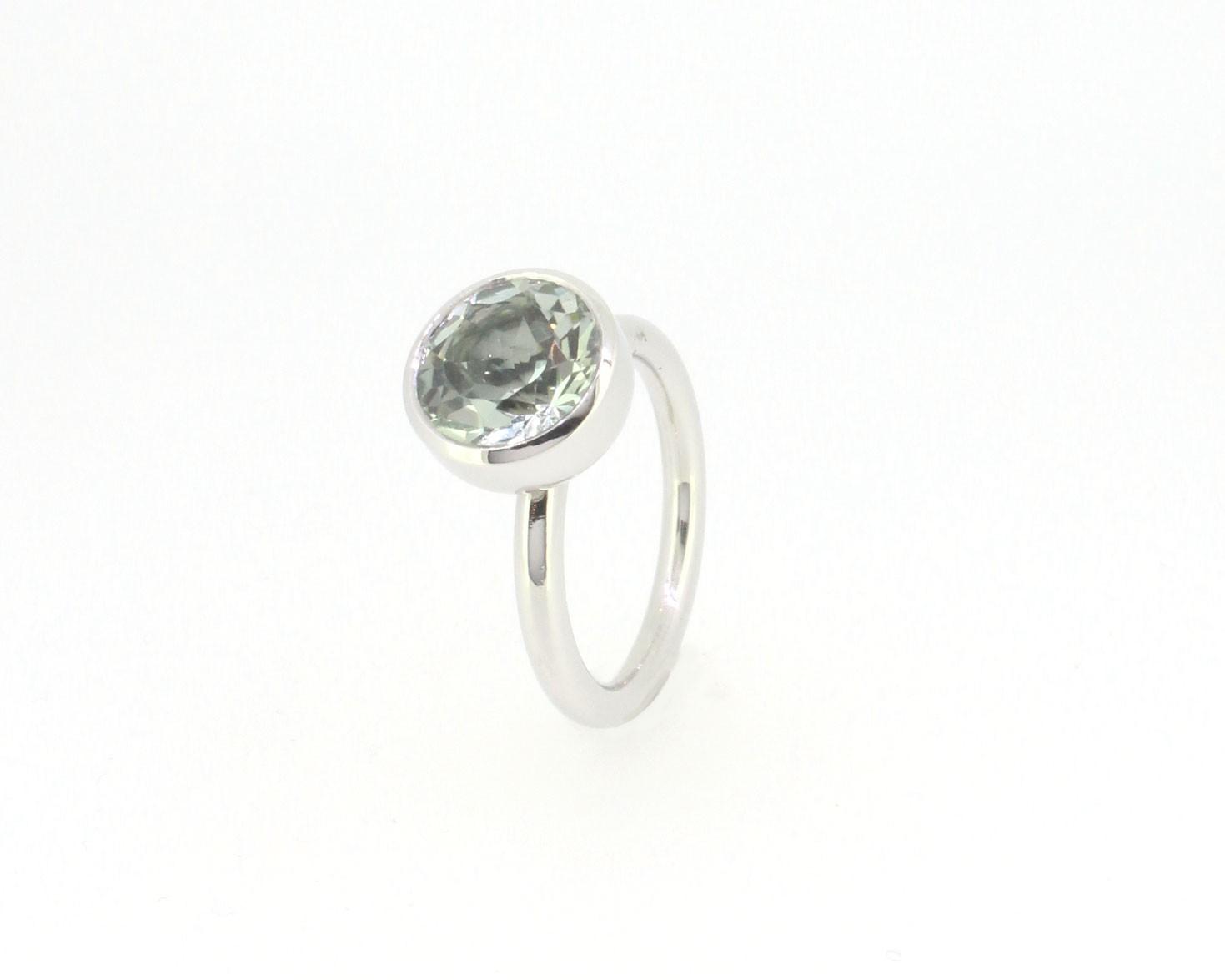 Ring Twiggy Citrin mintgrün 950 Platin - Georg Spreng - 414spre07-8