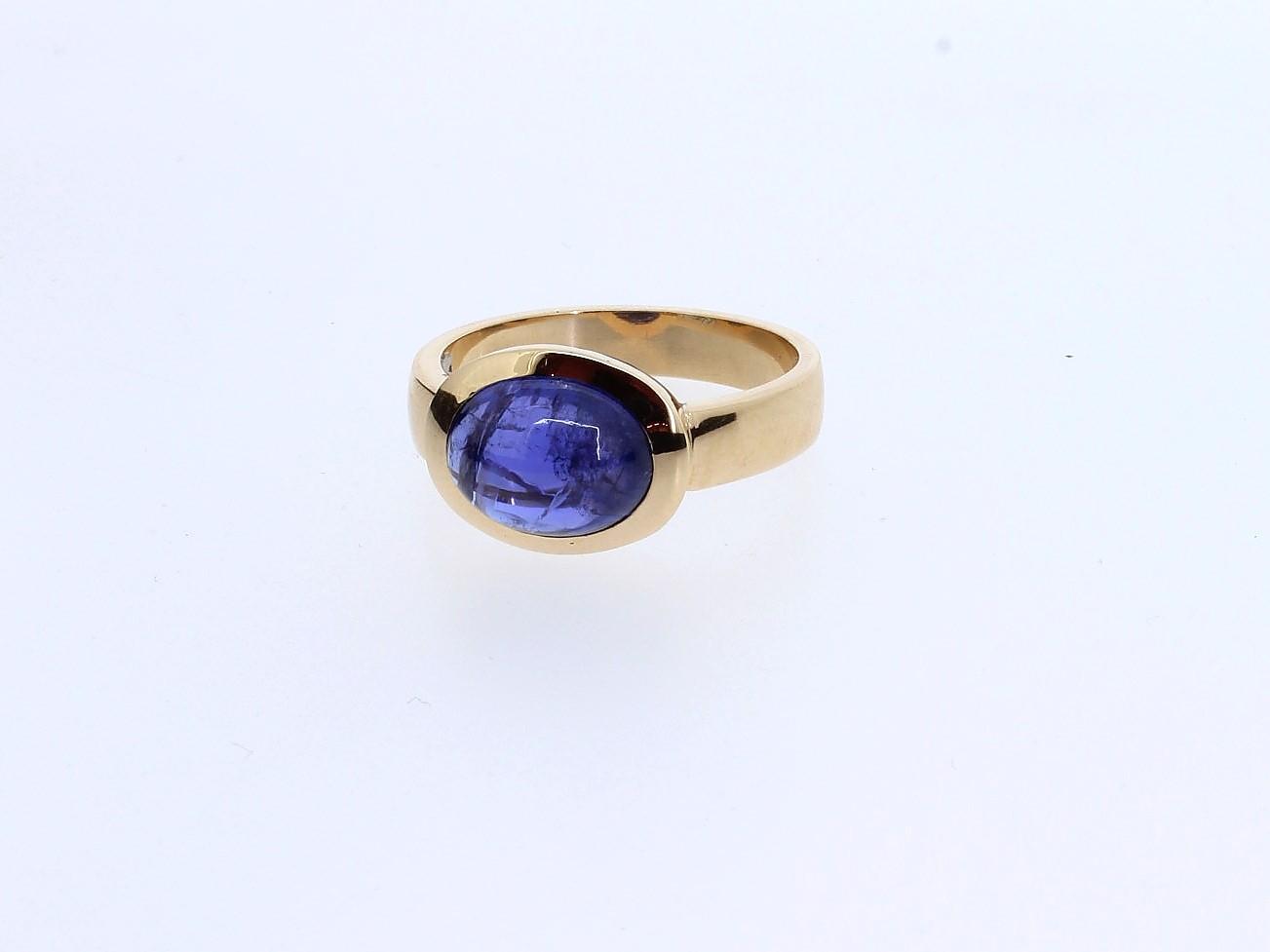 Ring Tansanit 14ct Gelbgold - Individuelle Marken - 417brun05-1
