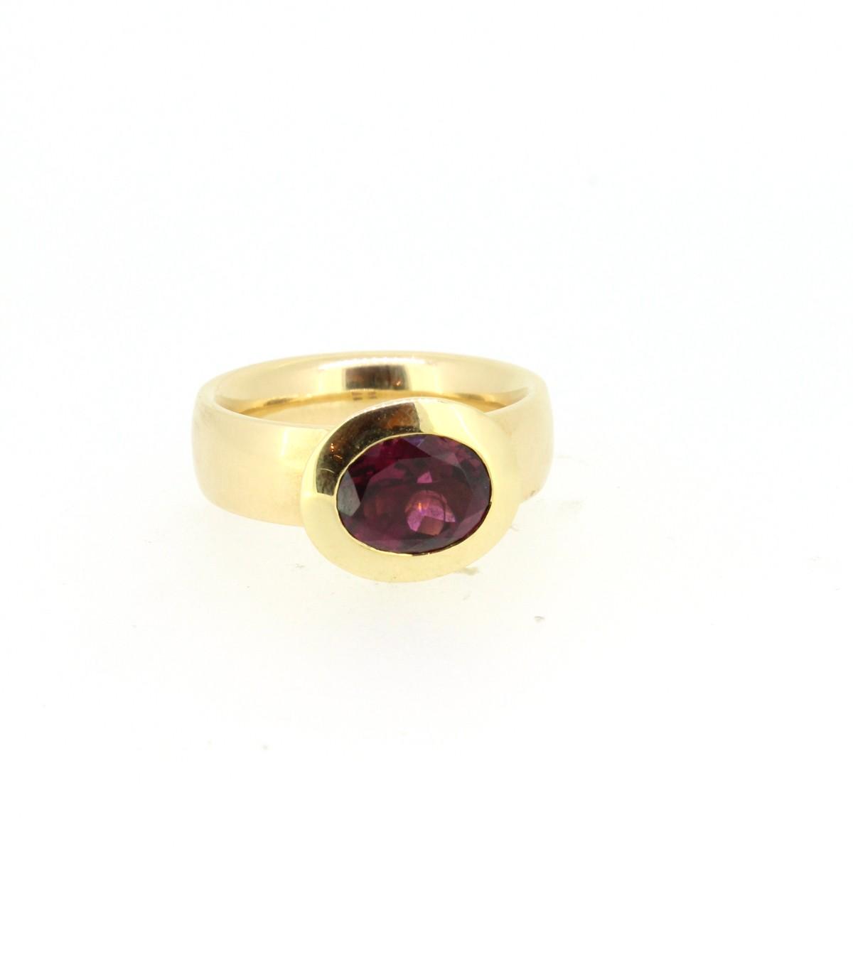 Ring Turmalin rot 18ct Gold - Individuelle Marken - 420brun10-1