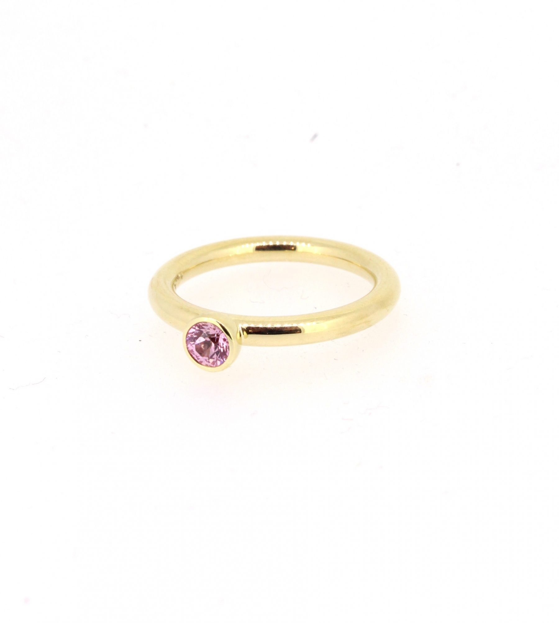 Ring Floh Saphir pink 18ctGold - Georg Spreng - 420spre07-1