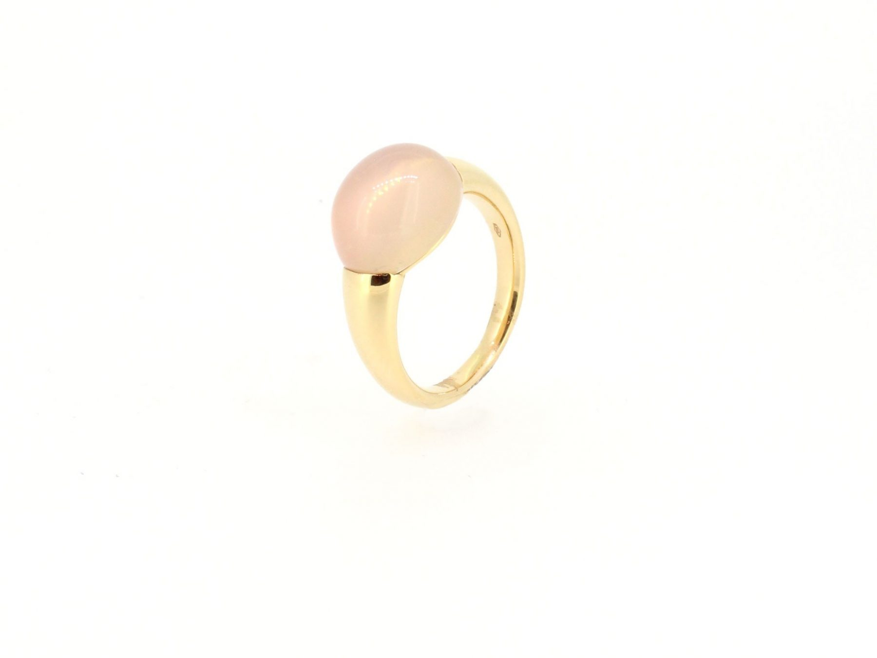 Ring Rosenquarz 18ct Roségold - GalerieVoigt - 46711Ros